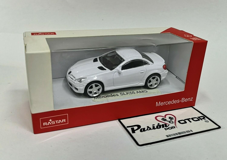 1:43 Mercedes Benz SLK55 AMG 2004 Blanco Rastar En Caja