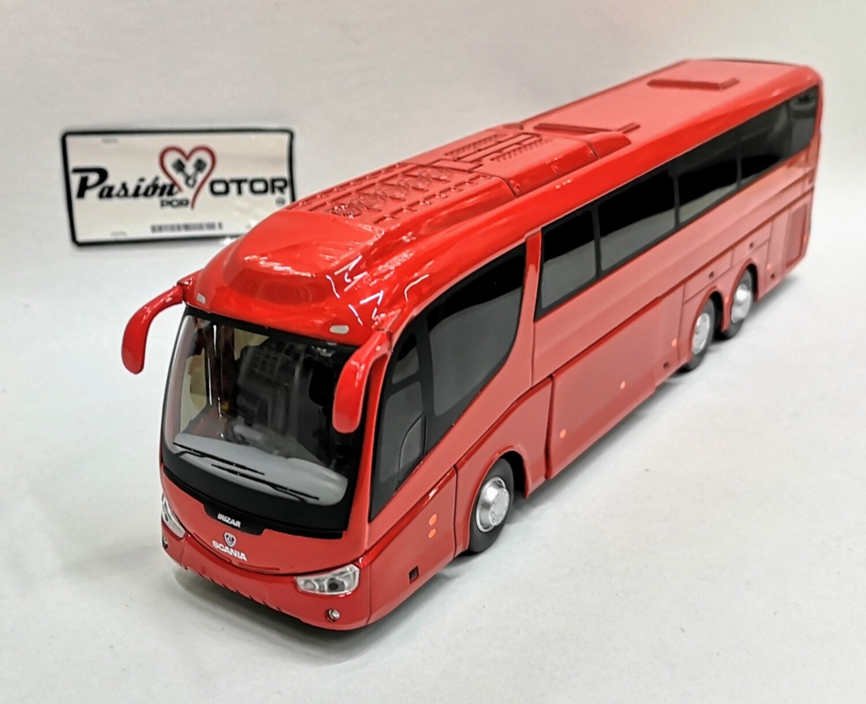 1:50 Scania Irizar Pb 2001 Tres Ejes Rojo Autobus Cararama