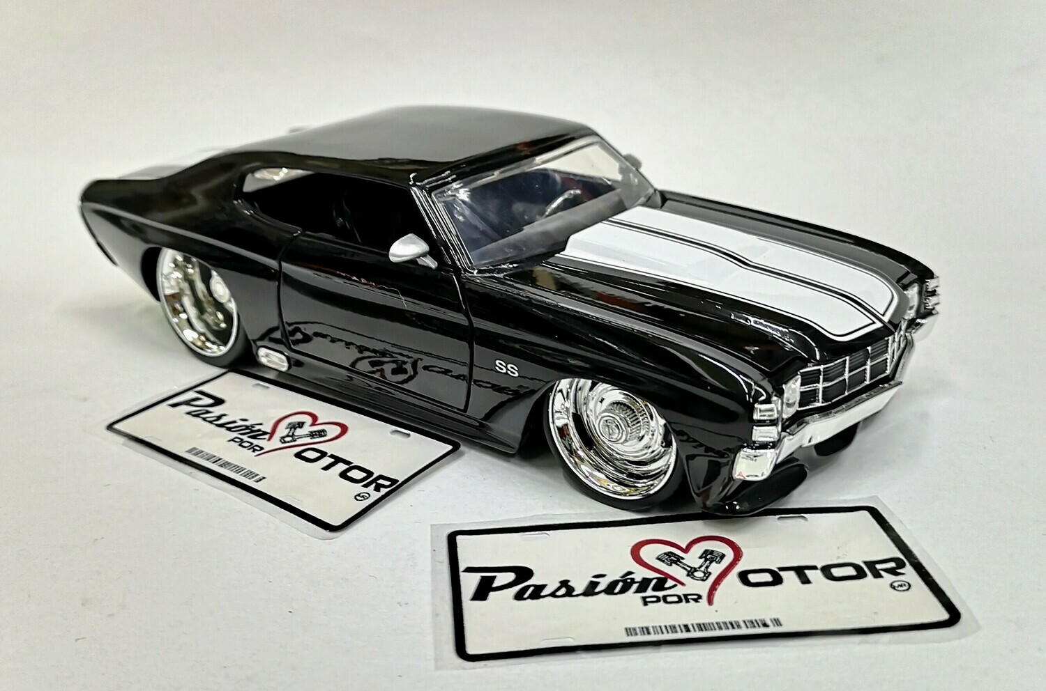 Jada Toys 1:24 Chevrolet Chevelle Coupe SS 1971 Negro Big Time Muscle Display a Granel