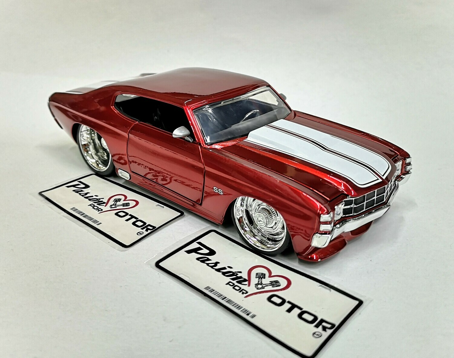 Jada Toys 1:24 Chevrolet Chevelle Coupe SS 1971 Rojo Big Time Muscle Display a Granel