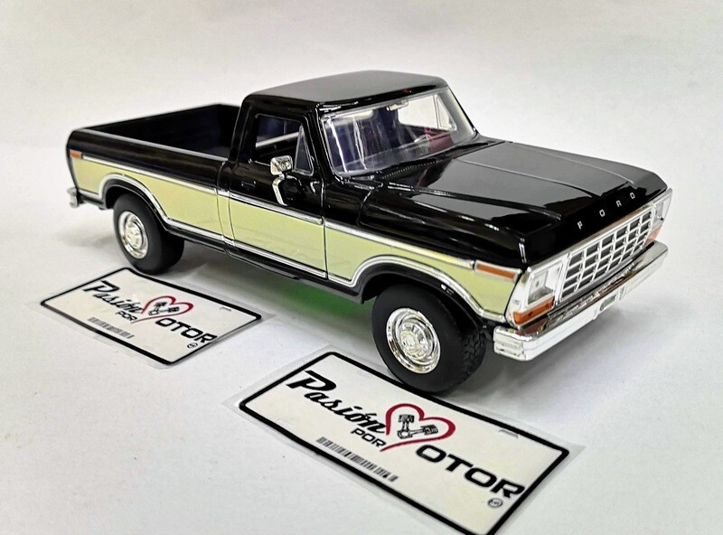 1:24 Ford F-150 Pick Up Caja Larga 1979 Bitono Negro Beige Jada Toys - Just Trucks En Display / A Granel