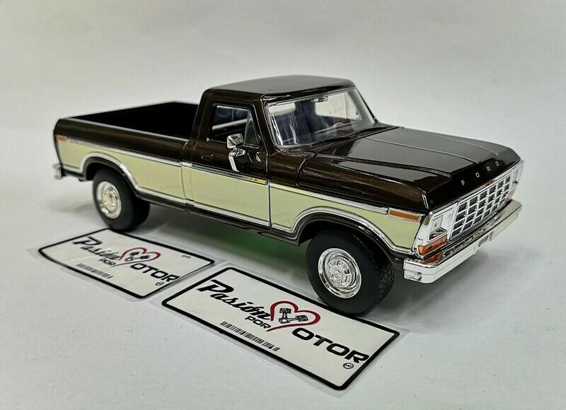 1:24 Ford F-150 Pick Up Caja Larga 1979 Bitono Cafe Beige Jada Toys - Just Trucks En Display / A Granel