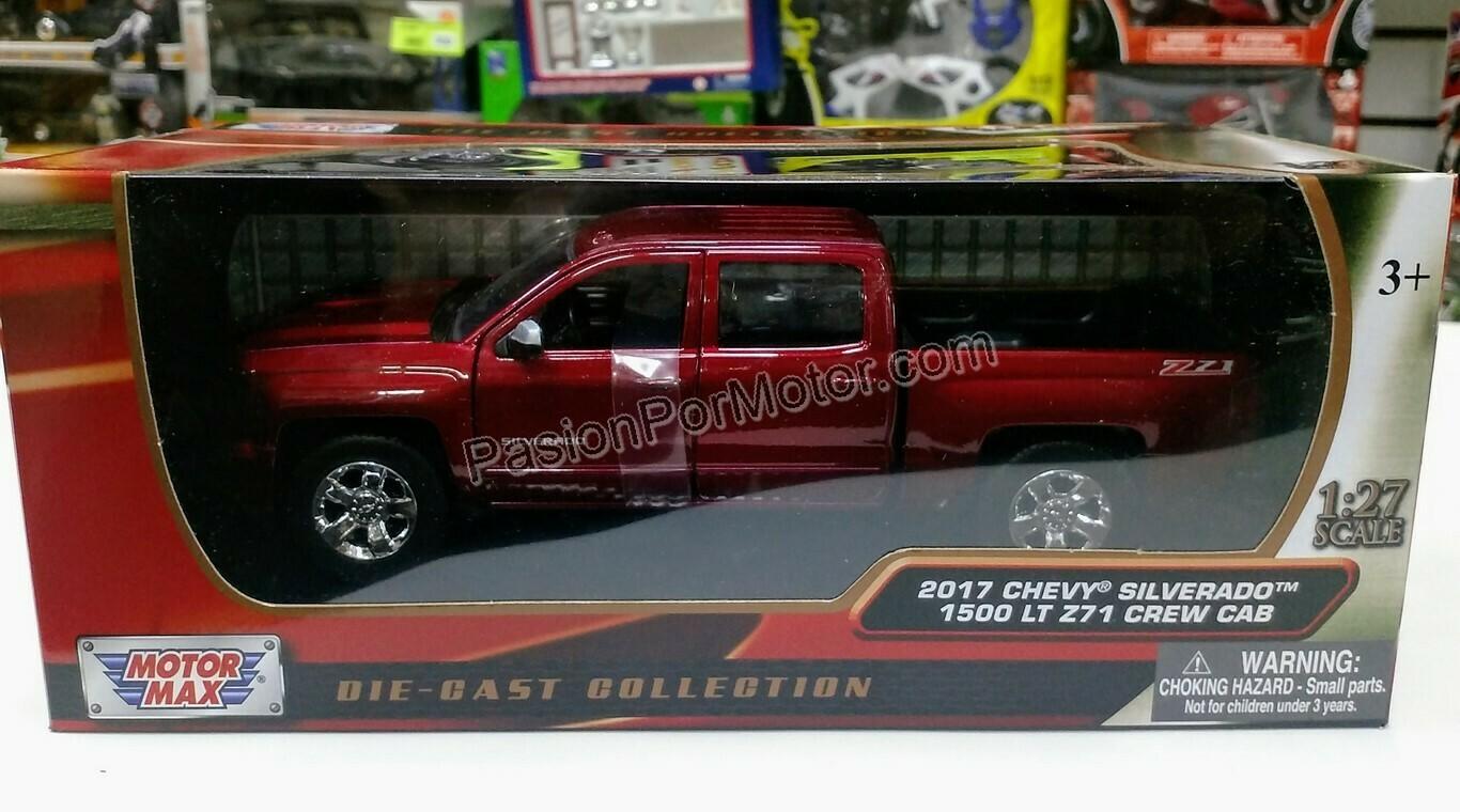 1:27 Chevrolet Silverado 1500 LT Z71 Crew Cab 2017 Vino Pick Up Motor Max C Caja 1:24