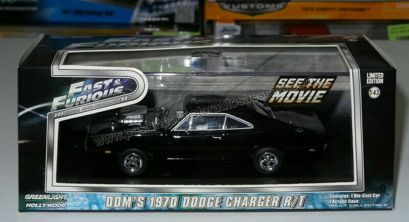 1:43 Dodge Charger R/T 1970 Dom´s Rapido y Furioso 1 de Greenlight