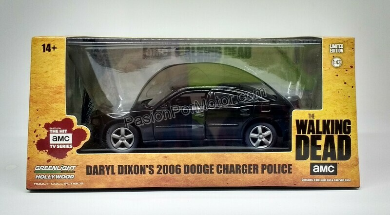 1:43 Dodge Charger 2006 Police Daryl Dixon´s The Walking Dead de Greenlight