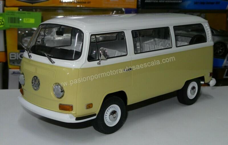 1:18 Volkswagen Type 2 1971 Bitono Amarillo c Blanco Greenlight Artisan Combi