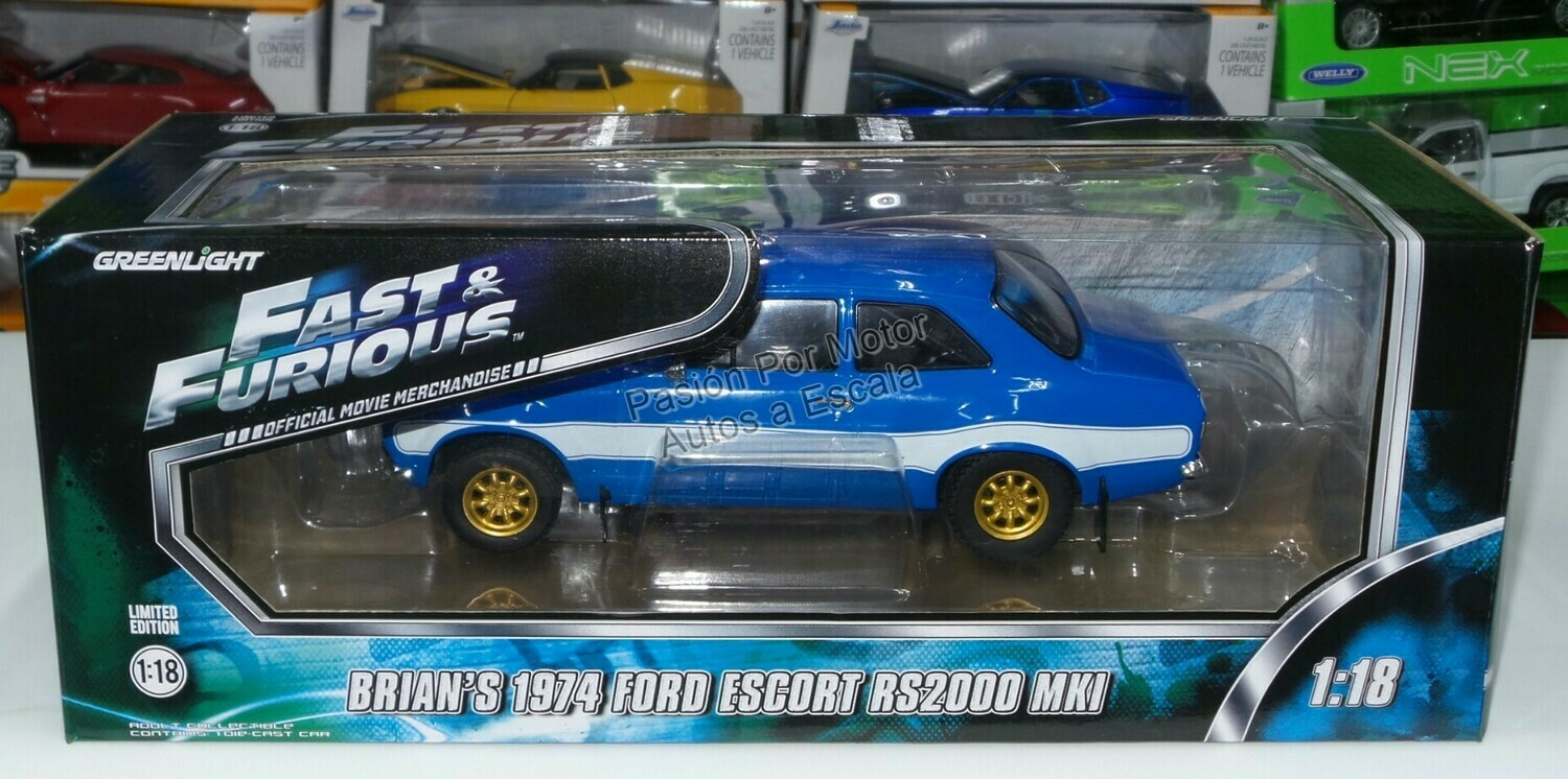 1:18 Ford Escort RS2000 MKI 1974 Brian's Rapido y Furioso 6 Greenlight
