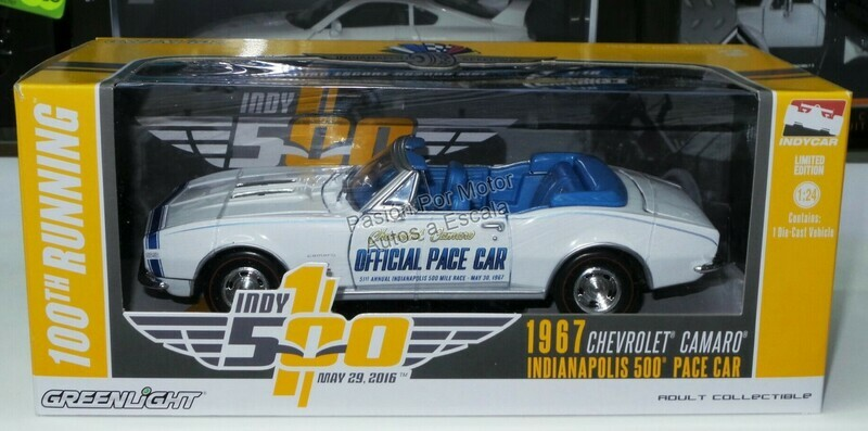 1:24 Chevrolet Camaro Convertible 1967 Pace Car Indianapolis 500 100th Running Greenlight