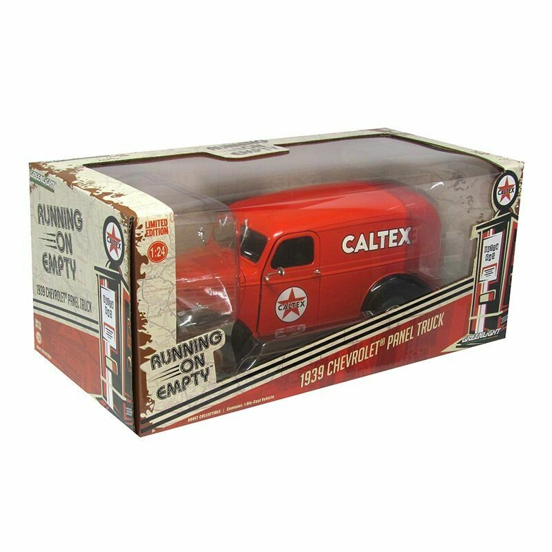 1:24 Chevrolet Panel Truck 1939 Caltex Greenlight Running On Empty En Caja