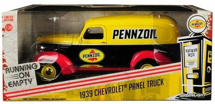 1:24 Chevrolet Panel Truck 1939 Pennzoil Greenlight Running On Empty En Caja