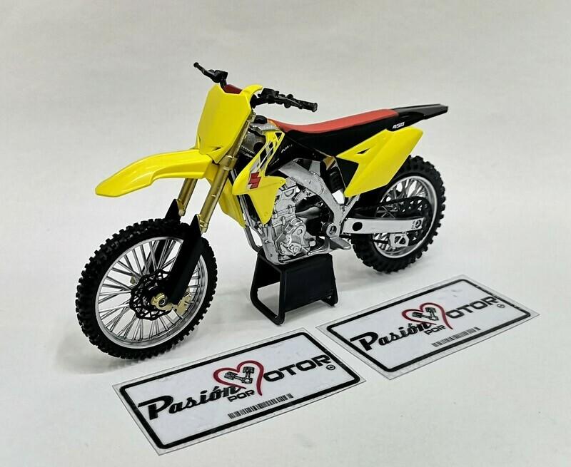 1:12 Suzuki RM-Z450 Amarillo New Ray Moto Trial Motocross