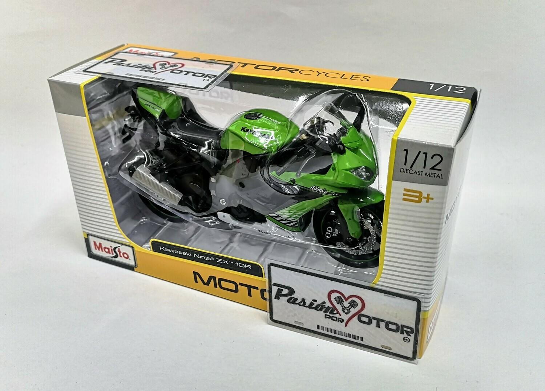 1:12 Kawasaki Ninja ZX-10R Verde Maisto Motorcycles