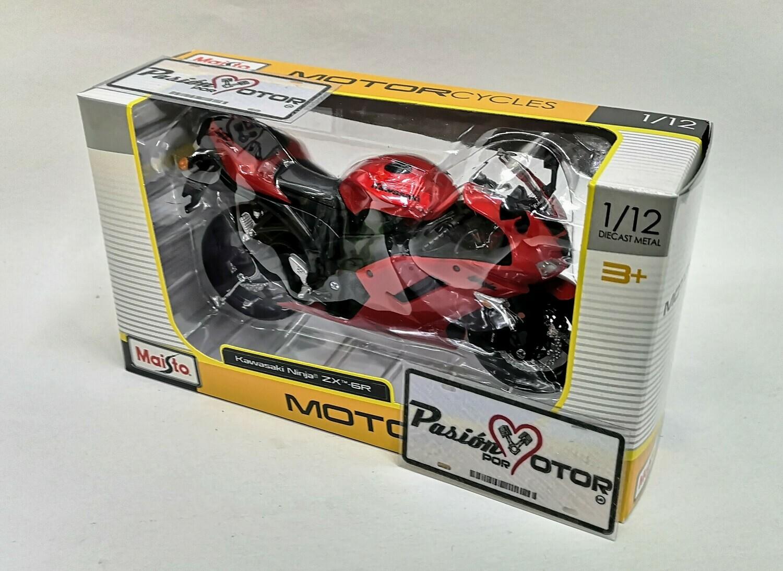 1:12 Kawasaki Ninja ZX-6R 2007 Rojo Moto Maisto Motorcycles