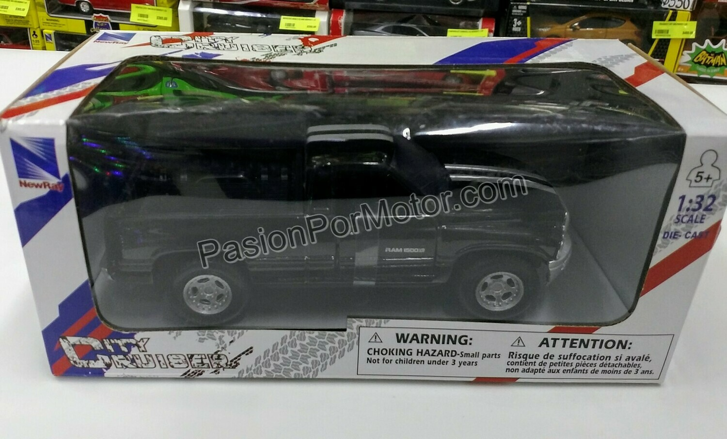 1:32 Dodge Ram 1500 SLT 1997 Pick Up Negro New Ray City Cruiser