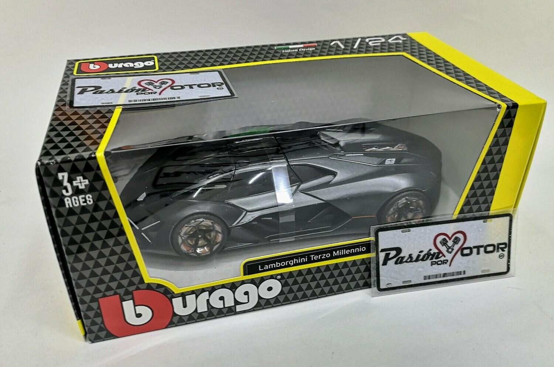 1:24 Lamborghini Terzo Millenio Concept 2017 Gris Bburago C Caja