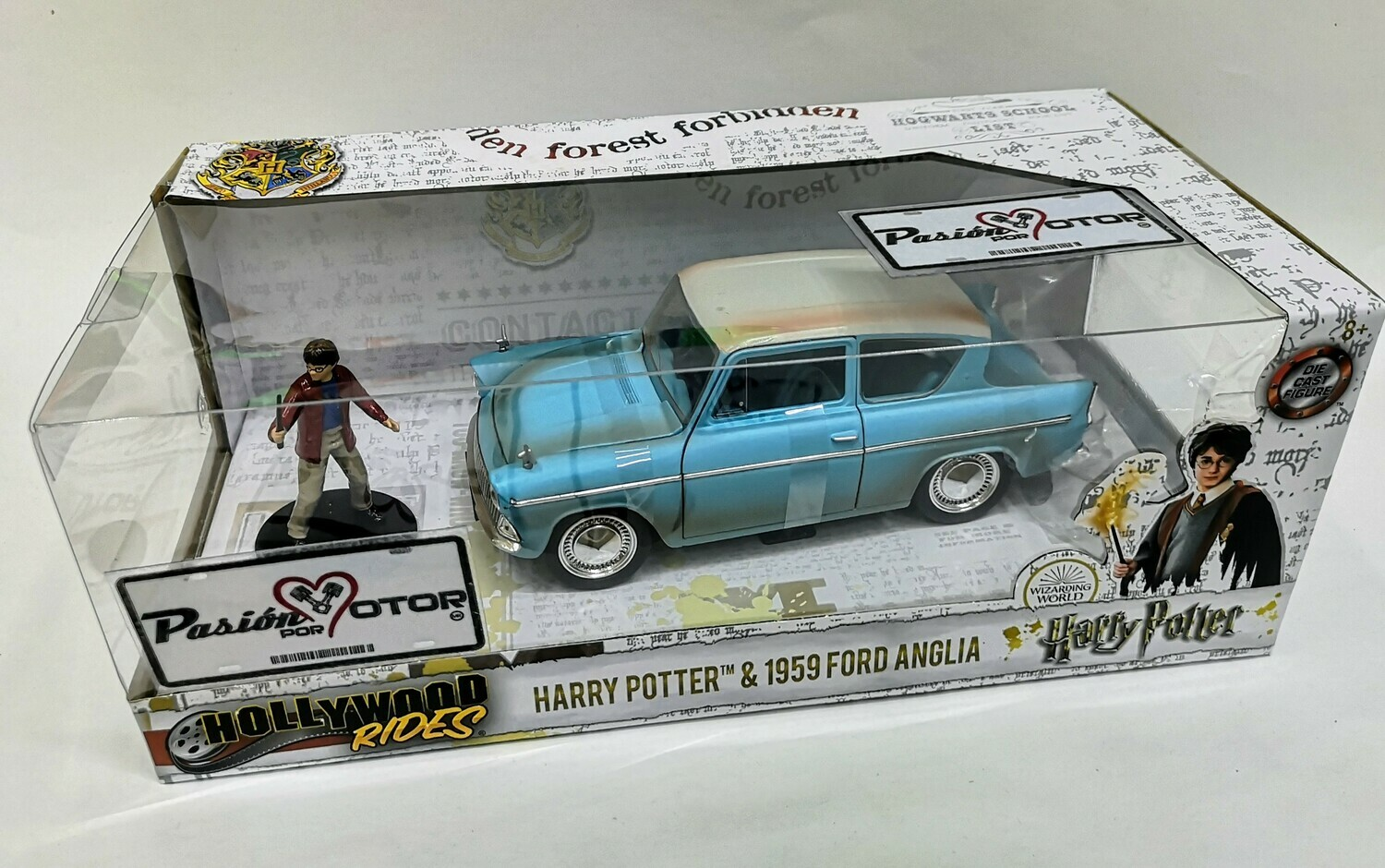 1:24 Ford UK Anglia 1958 & Harry Potter Jada Toys Hollywood Rides