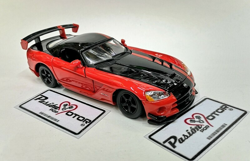 1:24 Dodge Viper SRT10 ACR 2008 Rojo Bburago En Display / A Granel