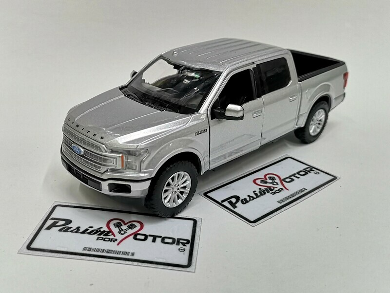 Motor Max 1:27 Ford F-150	Pick Up Crew Cab Limited 2019 Plata	Timeless Legends Display a Granel 1:24