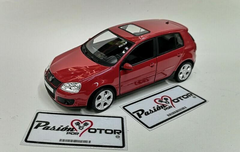 1:24 Volkswagen Golf A5 GTi 2004 Rojo 4 Puertas Cararama En Display / A Granel