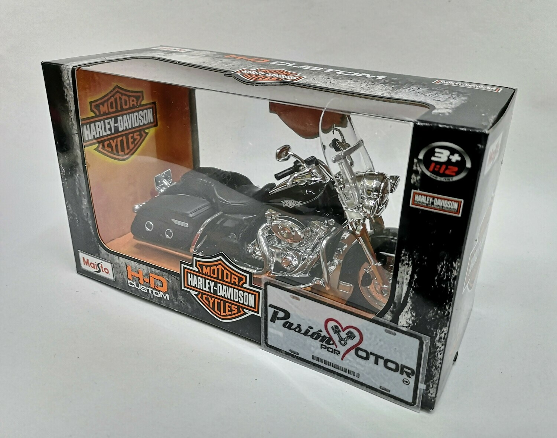 1:12 Harley Davidson FLHRC Road King Classic 2013 Negro Motocicleta Maisto H-D Custom