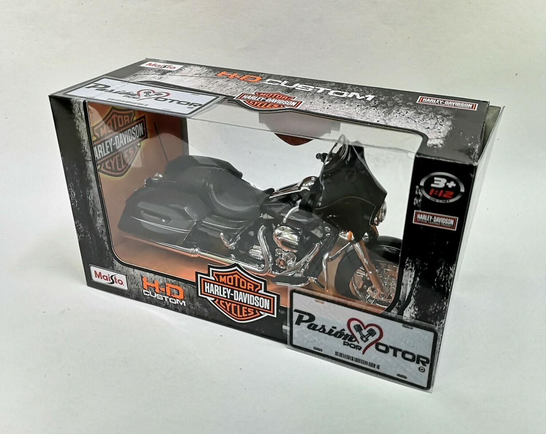 1:12 Harley Davidson Street Glide Special 2015 Negro Motocicleta Maisto H-D Custom
