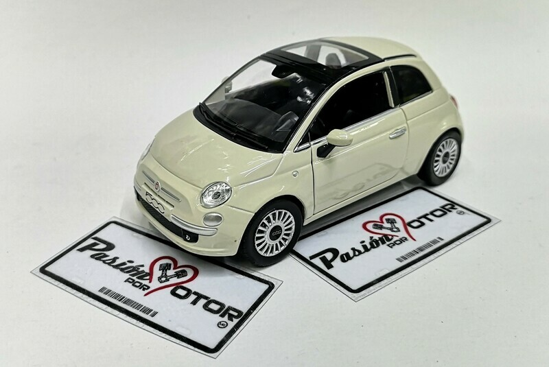 1:24 Fiat 500 2007 Blanco New Ray City Cruiser C Caja