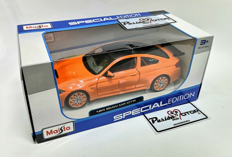 1:24 BMW M4 GTS 2016 Naranja Coupe Maisto Special Edition En Caja