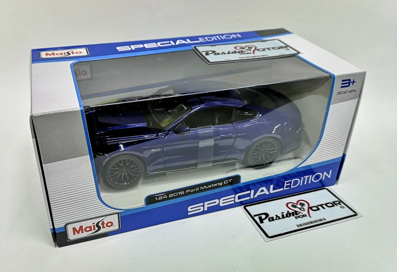 1:24 Ford Mustang GT 2015 Coupe Azul Maisto Special Edition En Caja