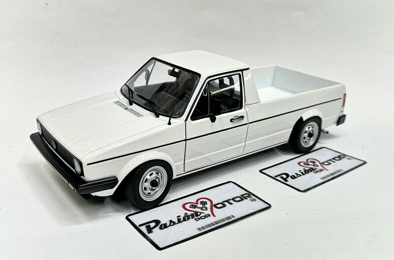 1:18 Volkswagen Caddy MKI 1982 Pick Up Blanco Solido