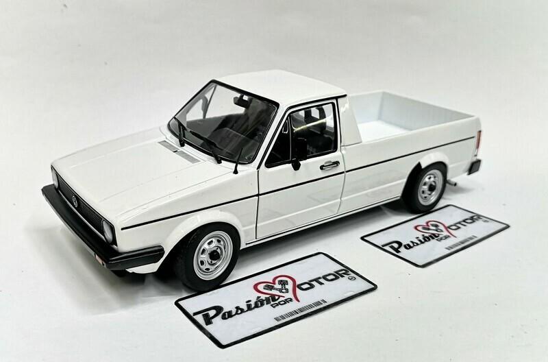 Solido 1:18 Volkswagen Caddy Pick Up MKI 1982 Blanco Con Caja
