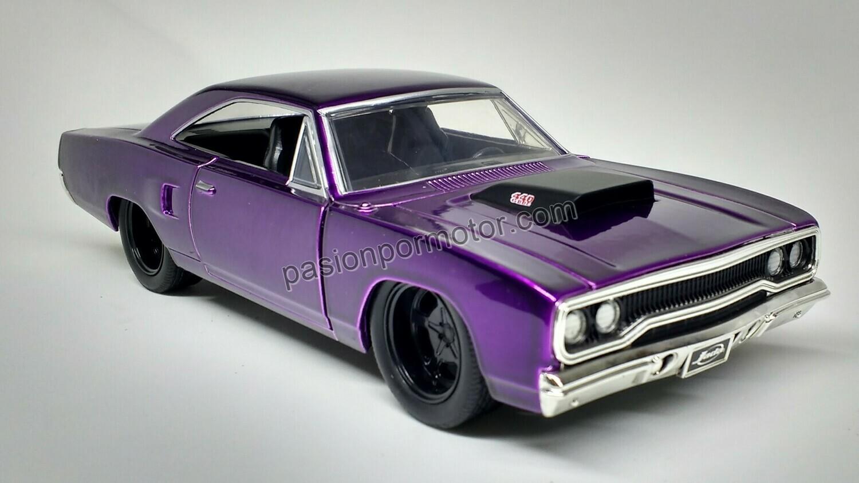 1:24 Plymouth Road Runner 1970 Purpura Jada Toys Big Time Muscle En Display / A granel