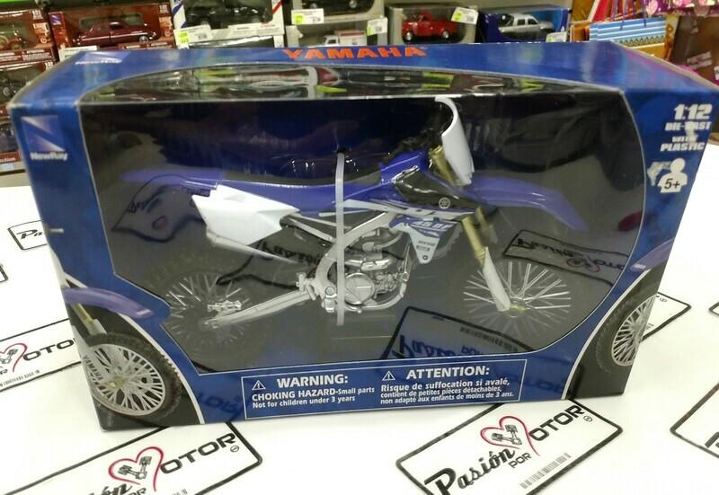 1:12 Yamaha YZ-450F Azul Moto Cross Trial Enduro New Ray