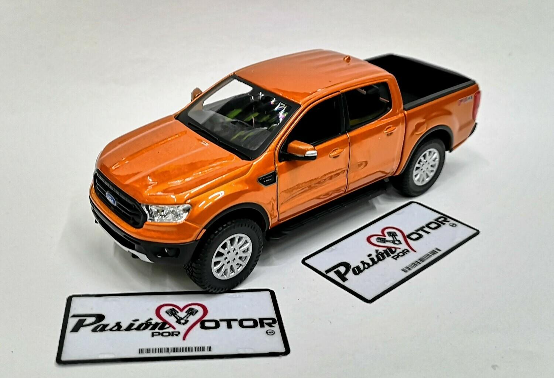 1:27 Ford Ranger Super Crew FX4 2019 Cobre Maisto Special Edition Pick Up En Display / A Granel 1:24