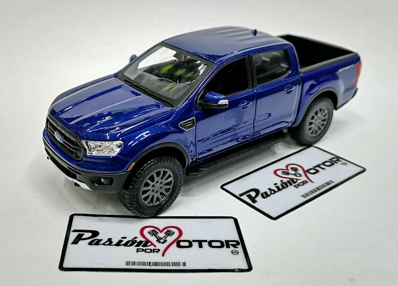 1:27 Ford Ranger Super Crew FX4 2019 Azul Maisto Special Edition Pick Up En Display / A Granel 1:24