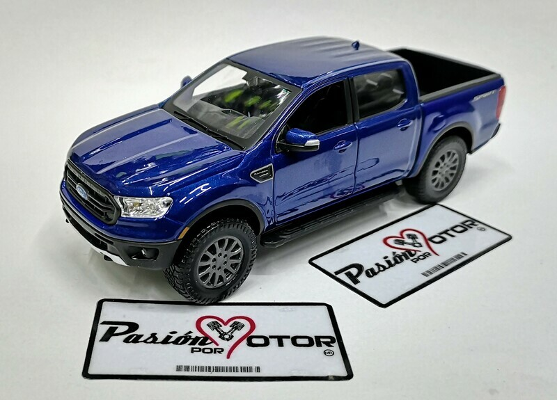 1:27 Ford Ranger Super Crew FX4 2019 Azul Maisto Special Edition Pick Up En Display / A Granel 1:24