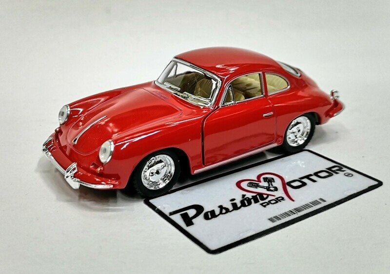 1:32 Porsche 356 B Carrera 2 1963 Rojo Kinsmart En Display / a Granel