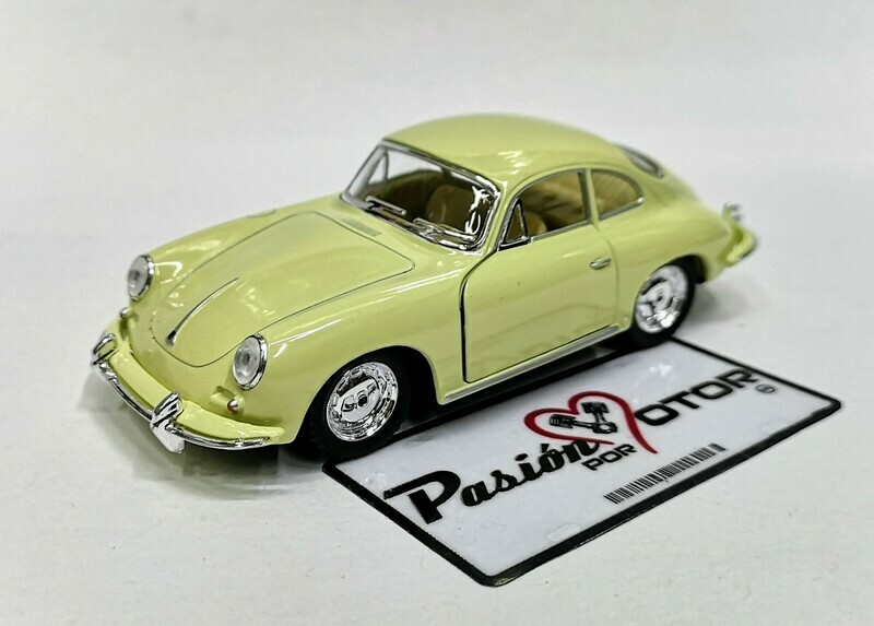 1:32 Porsche 356 B Carrera 2 1963 Beige Kinsmart En Display / a Granel