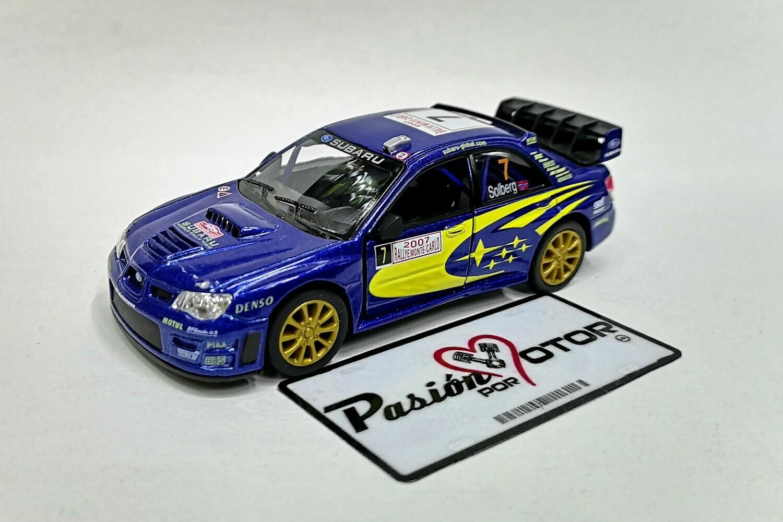 1:36 Subaru Impreza WRC Rallye Monte Carlo 2007 #7 Petter Solberg Kinsmart En Display / a Granel 1:32