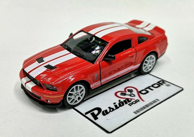 1:38 Ford Shelby GT500 2007 Rojo Franjas Blancas Kinsmart En Display a Granel 1:32 Mustang