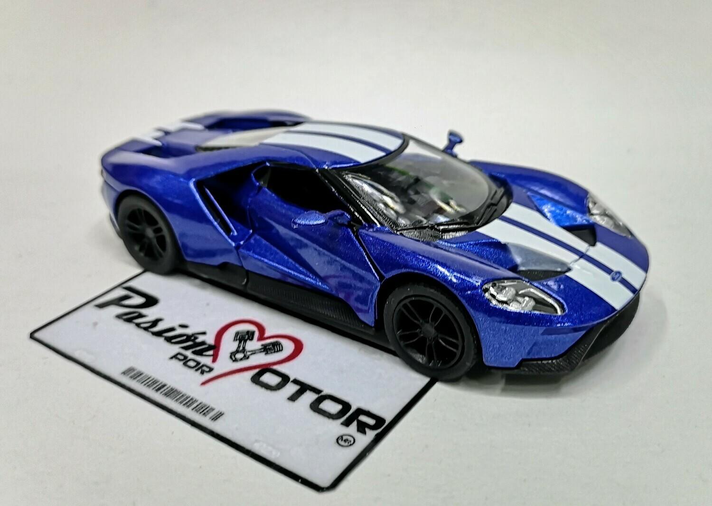 1:38 Ford GT 2017 Azul Franjas Blancas Kinsmart En Display a Granel 1:32 Shelby