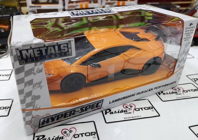 1:24 Lamborghini Huracán LP640-4 Performante 2017 Naranja Jada Toys Hyper Spec En Caja