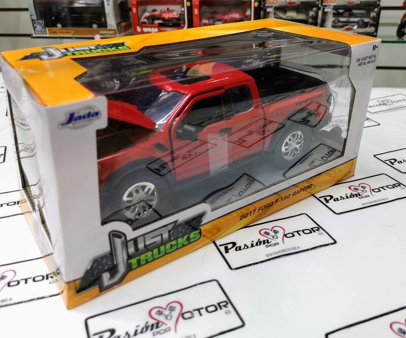 1:24 Ford F-150 Raptor 2017 Rojo Jada Toys Just Trucks C Caja