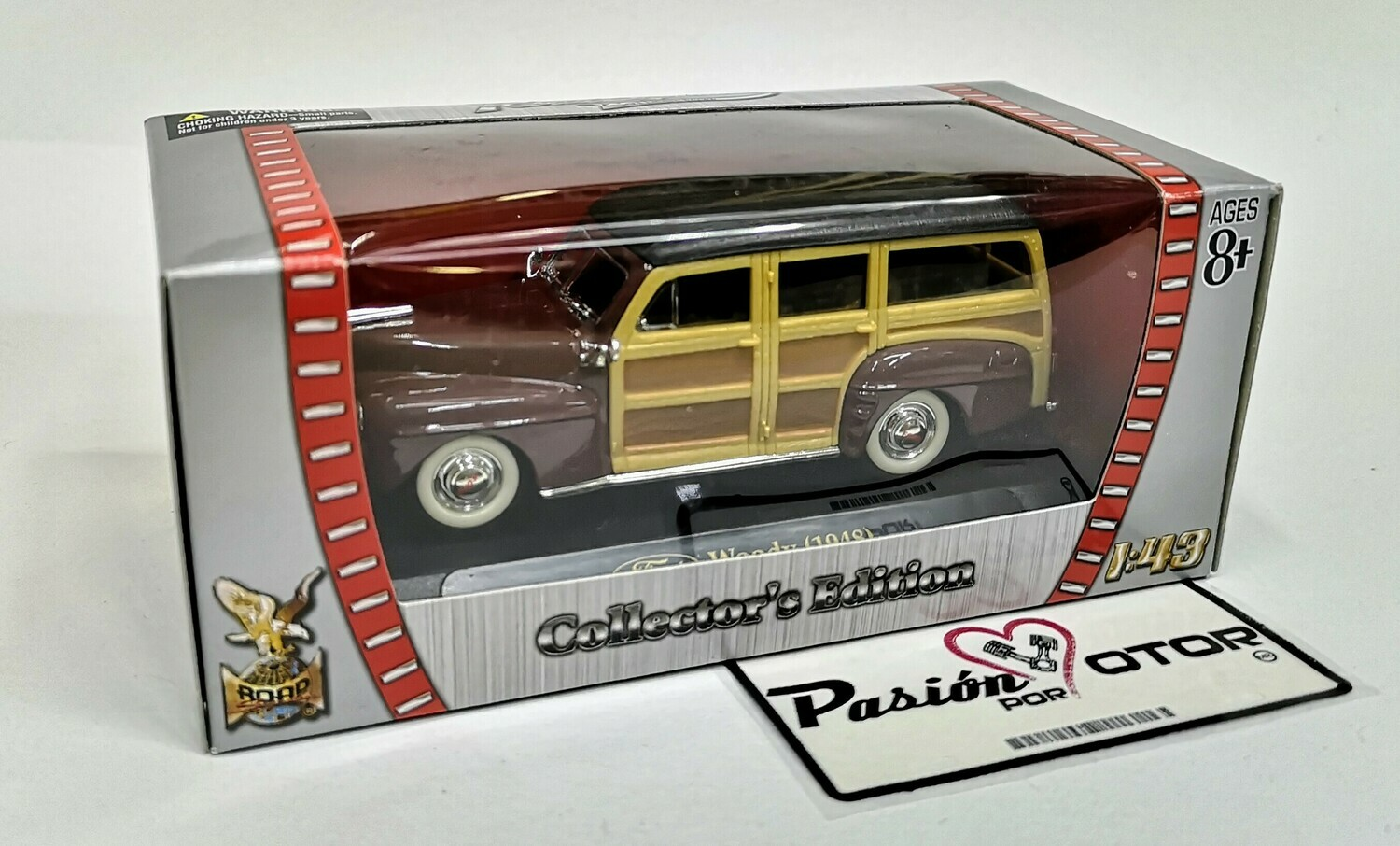 1:43 Ford Woody Wagon 1948 Cafe Lucky Die Cast Road Signature Collection