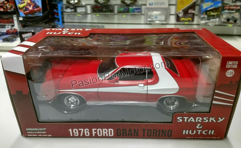 1:24 Ford Grand Torino 1976 Starsky & Hutch Rojo Greenlight