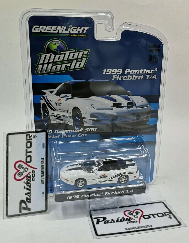 1:64 Pontiac Firebird T/A Convertible 1999 Daytona 500 Pace Car Greenlight Motor World