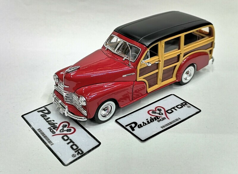 1:27 Chevrolet Fleetmaster Woody 1948 Rojo Welly  En Display / A Granel 1:24 Guayin