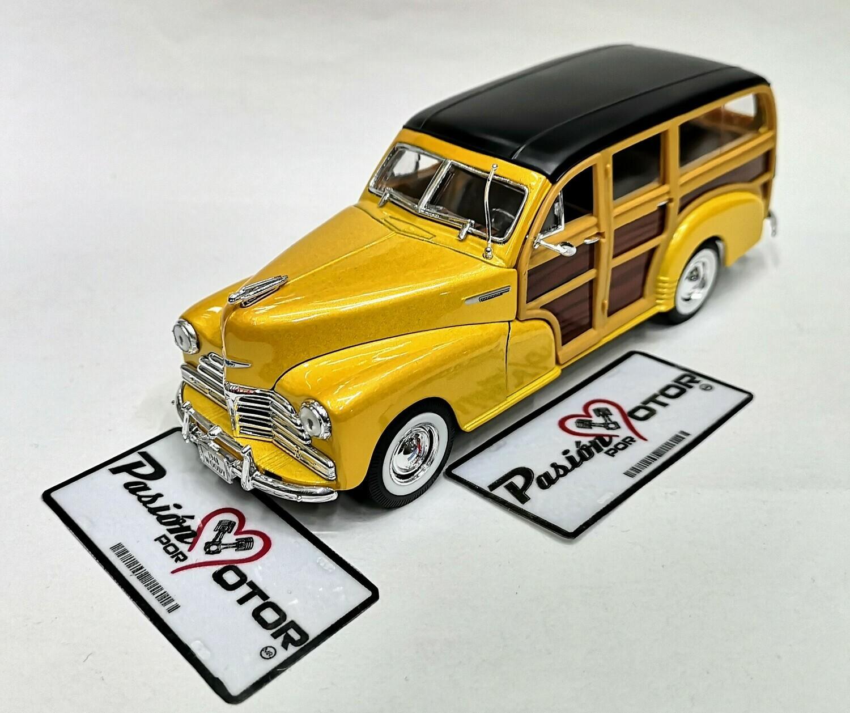 1:27 Chevrolet Fleetmaster Woody 1948 Amarillo Welly  En Display / A Granel 1:24 Guayin