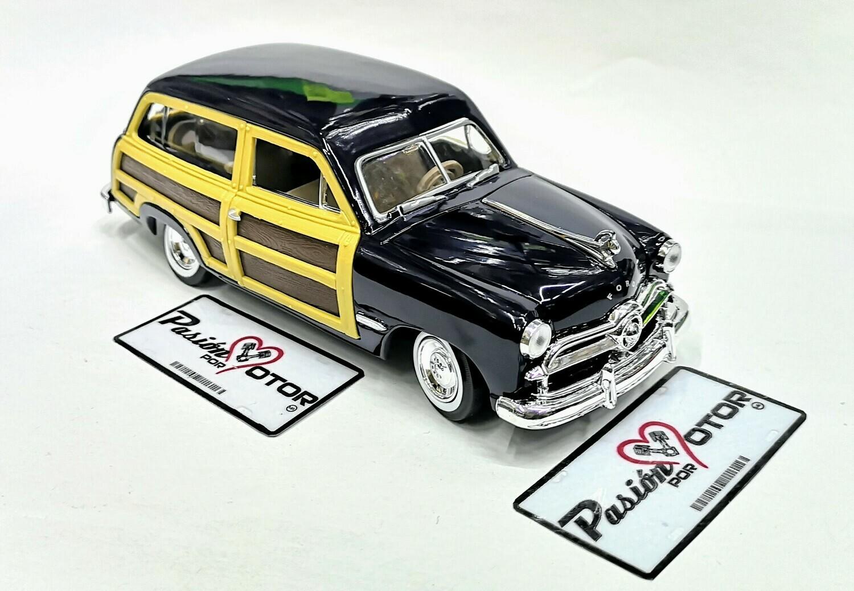 1:24 Ford Woody Wagon 1949 Azul Motor Max C Caja Guayin