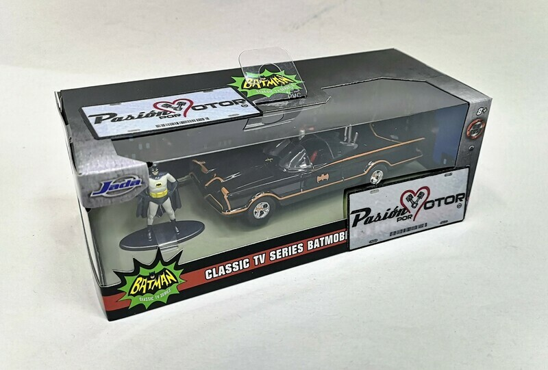 1:32 / 1:43 Batimovil 1966 TV Series Con Figura de Batman Jada Toys Metals DC Comics En Caja