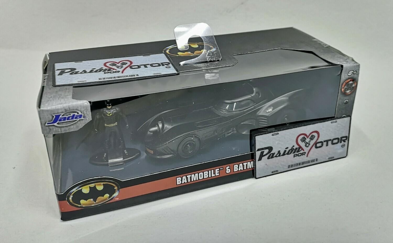 1:32 / 1:43 Batimovil 1989 1992 Con Figura de Batman Jada Toys Metals DC Comics En Caja